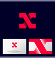 x letter monogram logo or icon design web vector image