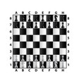 chess board top view isolated on white vector image