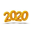 2020 number new year celebration banner vector image vector image