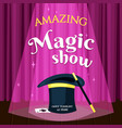 amazing magic show placard evening vector image