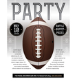 American Football Party Flyer Silver vector image vector image