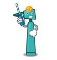 automotive otoscope mascot cartoon style vector image