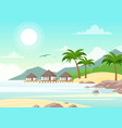 beautiful seaside with vector image vector image