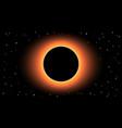 black hole on black background vector image vector image