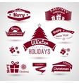 christmas and new year set trendy icons vector image