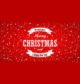 christmas background merry vector image