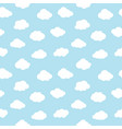 clouds seamless pattern blue sky with white vector image