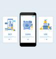 earn cashback website and mobile app onboarding vector image vector image