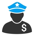 Financial Policeman Flat Icon vector image vector image