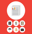 flat icon gain set of portfolio counter money vector image vector image