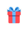 gift box icon - holiday present graphic symbol vector image vector image