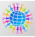 Global social media network vector image vector image