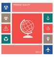 globe icon symbol elements for your design vector image