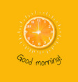 good morning banner orange vector image vector image