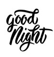 good night hand drawn lettering phrase isolated vector image