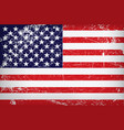 grunge flag of the united states of america vector image vector image