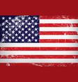 grunge flag united states america vector image