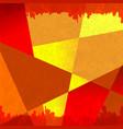grunge shape orange background vector image vector image