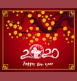 happy new chinese year 2020 year rat vector image vector image