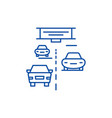 highway line icon concept highway flat vector image