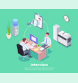 job interview conceptual background vector image vector image