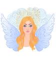 magic night fairy hand drawn portrait vector image vector image