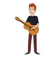 man playing guitar character vector image