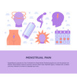 menstruation period concept banner in flat style vector image vector image