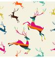 Merry Christmas reindeer stripes seamless pattern vector image vector image
