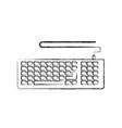 monochrome blurred silhouette of computer keyboard vector image vector image