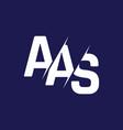 monogram letters initial logo design aas