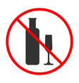 no alcohol sign and symbol prohibited icon vector image vector image