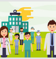people medical profession vector image vector image