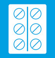 pills icon white vector image vector image