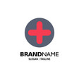 plus sign hospital medical business logo template vector image vector image