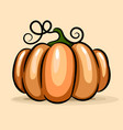 pumpkin emblem isolated flat design style vector image