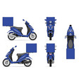 realistic blue motorcycle mock-up vector image vector image
