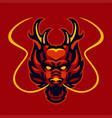 red dragon head logo vector image vector image