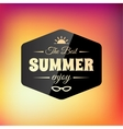 Retro styled summer calligraphic design card vector image vector image