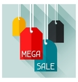 Sale and shopping advertising poster in flat vector image vector image