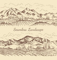 seamless pictures of nature landscape vineyard vector image