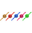 set multicolored bows vector image vector image