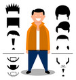 set of hairstylehairbeard set vector image
