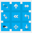 set of simple arrows icons elements back loading