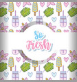 so fresh cartoons background vector image vector image