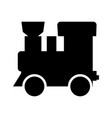 steam locomotive - train black color icon vector image vector image