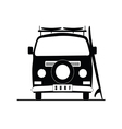 surf vehicle icon in black color vector image vector image