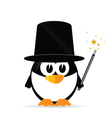 sweet and cute penguin vector image vector image