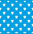 t-shirt pattern seamless blue vector image vector image