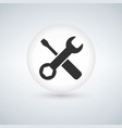 tools icon in circle button with shadow vector image vector image